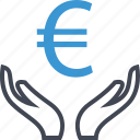 business, euro, money, revenue, sign, wealth icon