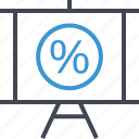 business, interest, pay, percentage, rate icon