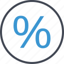 business, percent, percentage, rate icon