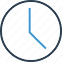 clock, due, time, timeline icon