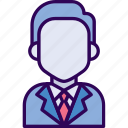 avatar, business, male, man, officer icon