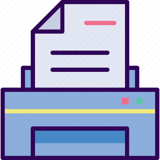 business, document, paper, printer icon
