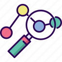 business, link, network, search icon