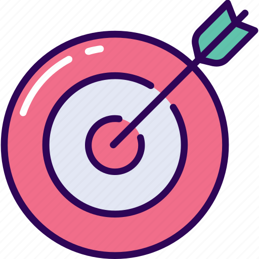 arrow, business, target icon