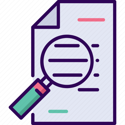 agreement, business, document, search icon