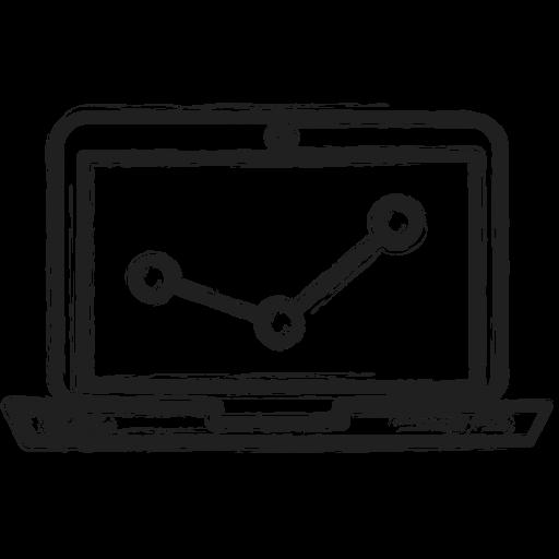 business, computer, diagram, graph icon