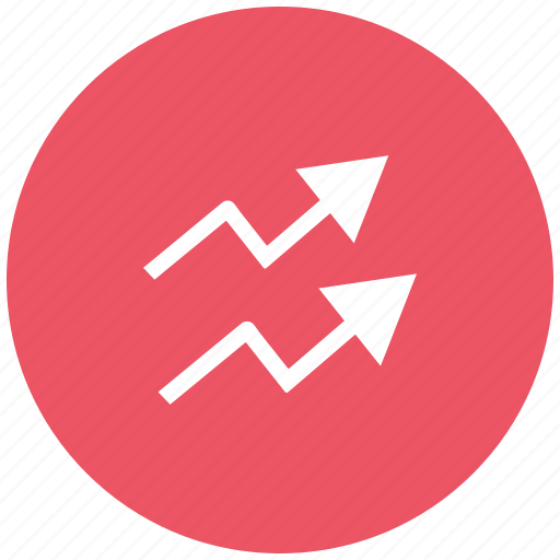 analytics, chart, growth, inflation, infographic, line graph, statistics icon