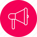 announcement, bullhorn, loud, megaphone icon