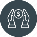 dollar, donation, money, payment icon