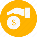 finance, giving money, loan icon