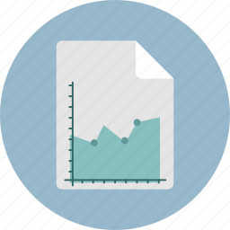 chart, doc, graph, grow icon