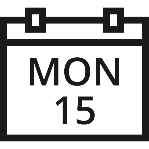calendar, date, day, event, month, year icon