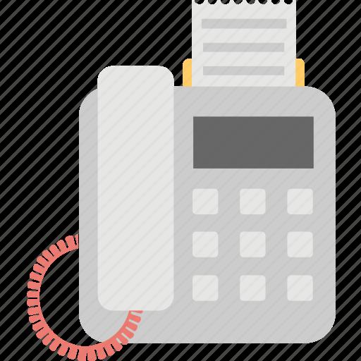 billing machine, fax machine, invoice, printer, receipt icon