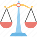balance scale, justice scale, law and order, law symbol, weighing scale icon