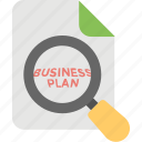 business analysis, business plan, business strategy, future focus, research icon