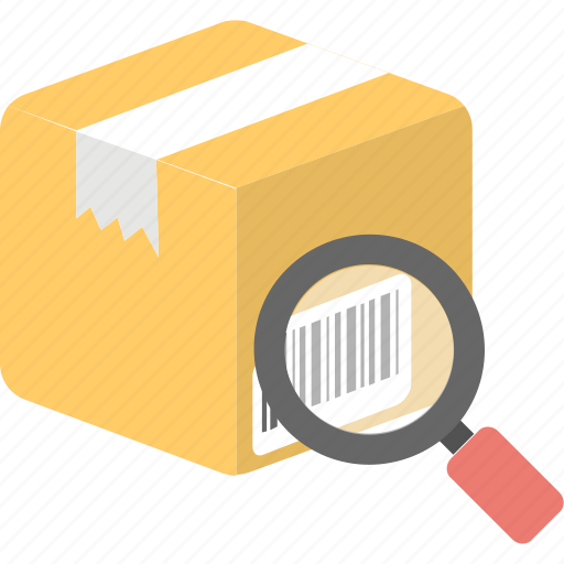 logistic package, order tracking, parcel tracking, search parcel, shipment evaluation icon