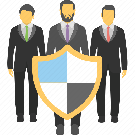 business insurance, business liability, business management, business protection, workforce icon