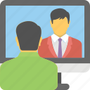 videocall, live chat, support, video conference, video chat icon