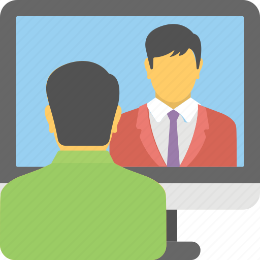 live chat, support, video chat, video conference, videocall icon