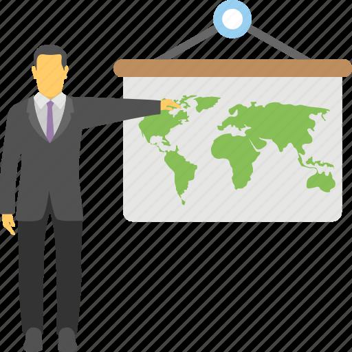business presentation, commerce, economic, finance, success profit icon