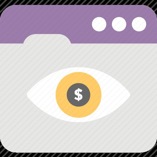 business eye, emarketing vision, eye money, web eye, web hosting icon