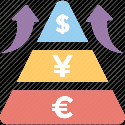 business report, financial report, graph report, pyramid graph, statistics icon