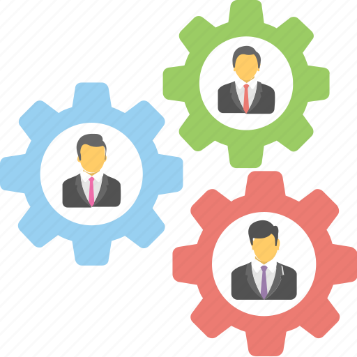 business cooperation, business people, business solutions, diversity, teamwork icon