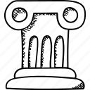 dais, platform, rostrum, stage, tribune icon