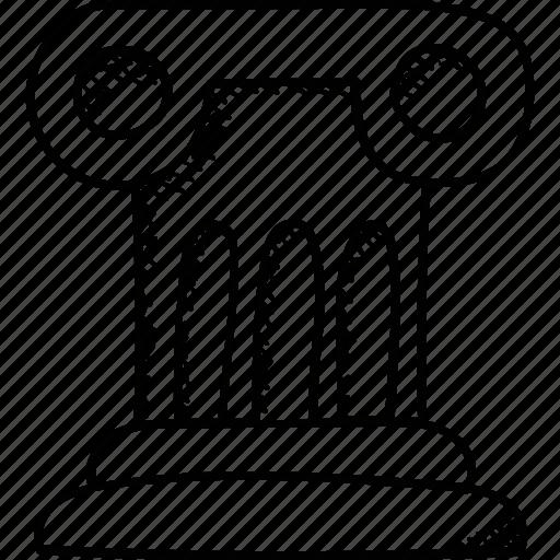 dais, platform, rostrum, stage, tribune icon