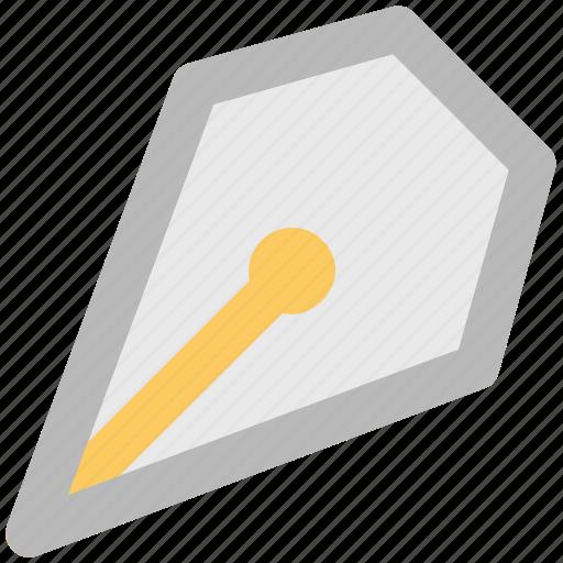 fountain pen, ink pen, nib, nib pen, pen, pen nib, writing icon
