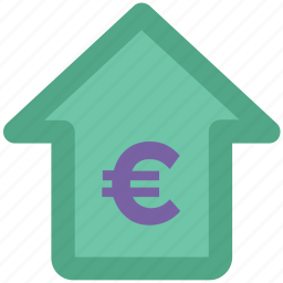 business, euro, home, house, money, property icon