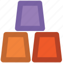 blocks, cubes, gold, gold bar, gold biscuits, gold bricks, gold ingot icon