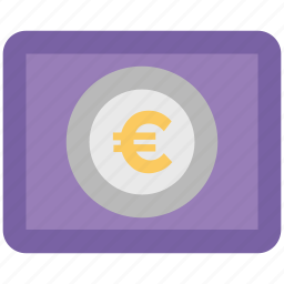 banknote, bill, currency, currency note, euro, euro note icon