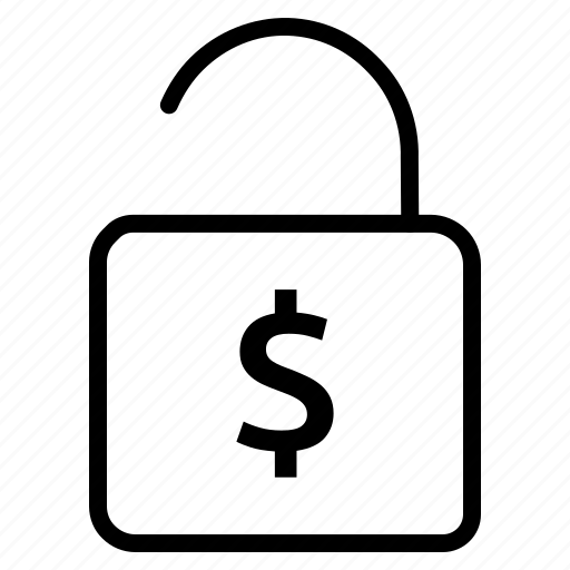 dollar, guard, lock, protection, safety, security icon