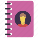 book, business, contact, directory icon
