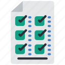 business, check, checklist, document, list, paper icon