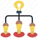 brainstorm, business, group, idea, users icon