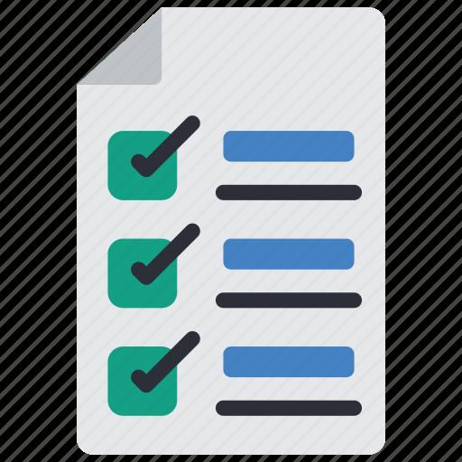 business, check, checklist, document, list, paper icon