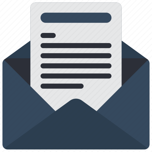 business, email, mail, opened, read icon