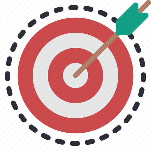 business, optimise, target, targetting icon