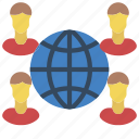 business, global, globe, group, users icon