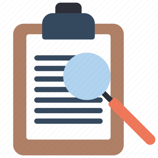 browse, business, clipboard, find, search, stationery icon