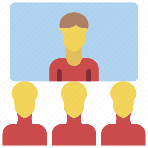business, chat, conference, group, messaging, users, video icon