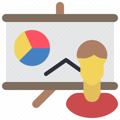 board, business, ppt, pres, presentation, user icon