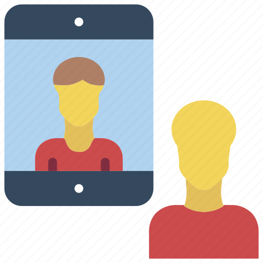 business, chat, conference, ipad, users icon