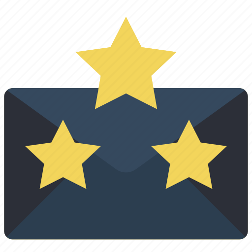 business, email, favourite, mail, starred, stars icon