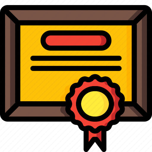business, certificate, diploma, qualifiaction icon