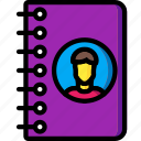 address, book, business, contact, directory icon