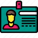 business, card, id, identification, user icon