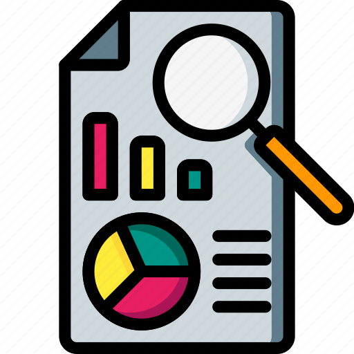 business, document, file, find, graph, paper, search icon